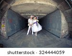 Funny And Beautiful Bride And...