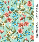 floral seamless pattern with... | Shutterstock .eps vector #324444656
