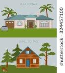 big set city generator. house... | Shutterstock .eps vector #324457100