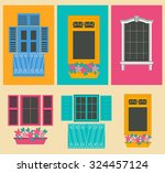 big set city generator. house... | Shutterstock .eps vector #324457124