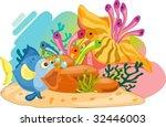coral reef scene | Shutterstock .eps vector #32446003