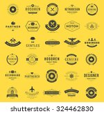 retro vintage logotypes or... | Shutterstock .eps vector #324462830