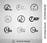 vector time icons. 10 minutes... | Shutterstock .eps vector #324463640
