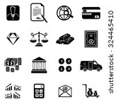 banking and finance icons set...   Shutterstock .eps vector #324465410