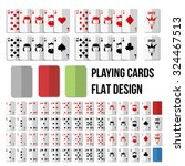 Playing Cards In Flat Style....