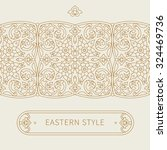 vector ornate seamless border... | Shutterstock .eps vector #324469736