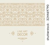 vector ornate seamless border... | Shutterstock .eps vector #324469790