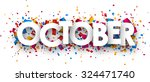 october sign with colour... | Shutterstock .eps vector #324471740