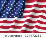 waving flag of united states of ... | Shutterstock .eps vector #324472253