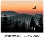 Vector Landscape. Panorama Of...
