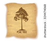 pine tree silhouette and the... | Shutterstock .eps vector #324474068