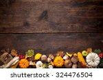 harvest or thanksgiving...   Shutterstock . vector #324476504