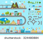 cityscape design elements with...