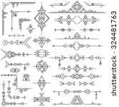 collection of vector geometric... | Shutterstock .eps vector #324481763