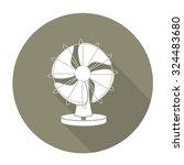 white vector fan on color... | Shutterstock .eps vector #324483680