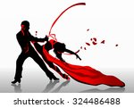 beautiful couple in passionate... | Shutterstock .eps vector #324486488