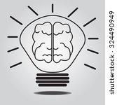 lamp and brain. creative brain...   Shutterstock .eps vector #324490949