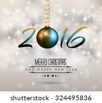 2016 happy new year background... | Shutterstock . vector #324495836