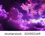 stars in the night sky puple... | Shutterstock . vector #324502169