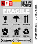 fragile  sticker | Shutterstock .eps vector #324505286