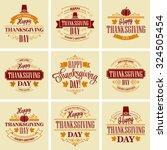 typographic thanksgiving design ...   Shutterstock .eps vector #324505454