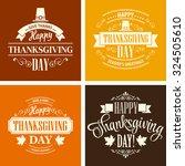 typographic thanksgiving design ... | Shutterstock .eps vector #324505610