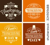 typographic thanksgiving design ... | Shutterstock .eps vector #324505688