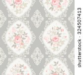 seamless floral pattern with... | Shutterstock .eps vector #324507413