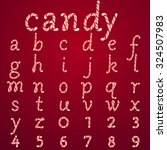 alphabet candy style vector art ...   Shutterstock .eps vector #324507983