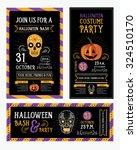 halloween party invitation.... | Shutterstock .eps vector #324510170