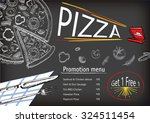 pizza italian with raw material ... | Shutterstock .eps vector #324511454