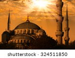 blue mosque in istanbul ... | Shutterstock . vector #324511850