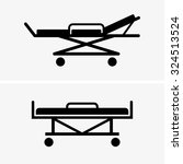 hospital bed | Shutterstock .eps vector #324513524