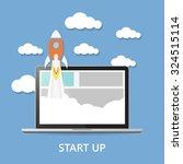 concept. project start up  ... | Shutterstock .eps vector #324515114