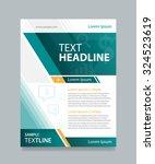 vector template  business... | Shutterstock .eps vector #324523619