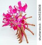 brazilian carnival.group of...   Shutterstock . vector #324523838