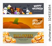 halloween banners  vector...   Shutterstock .eps vector #324531854