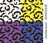 pattern of black bats on... | Shutterstock .eps vector #324533228
