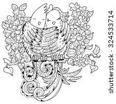 cute birds in love doodle... | Shutterstock .eps vector #324533714