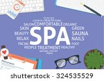 vector spa concept template | Shutterstock .eps vector #324535529