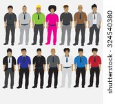 office man cartoon set | Shutterstock .eps vector #324540380