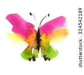 watercolor flying butterfly... | Shutterstock . vector #324542189