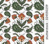 vector hand drawn paisley... | Shutterstock .eps vector #324550259