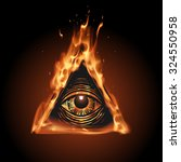 all seeing eye in flame | Shutterstock .eps vector #324550958