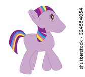 purple pony | Shutterstock .eps vector #324554054