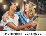 two affectionate multiracial... | Shutterstock . vector #324558188