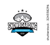 vector label of snowboarding.... | Shutterstock .eps vector #324558296