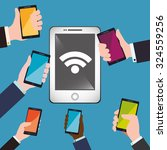 wifi concept with technology... | Shutterstock .eps vector #324559256