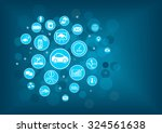 disruptive technology for... | Shutterstock .eps vector #324561638