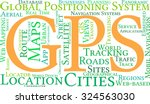 gps word cloud on a white... | Shutterstock .eps vector #324563030
